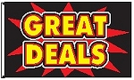 3' x 5' Great Deals Firecracker Flag