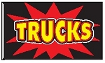 4' x 6' Trucks Firecracker Flag