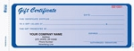 2-Part Blue Carbonless Gift Certificate