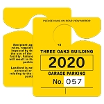 58403 .035 Pt White Recyclable Plastic Parking Permits