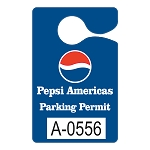 58502 .023 Pt White Recyclable Plastic Parking Permits