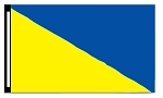 3' x 5' Yellow & Blue Diagonal Flag