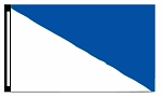 5' x 8' White & Blue Diagonal Flag