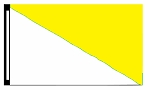 5' x 8' White & Yellow Diagonal Flag