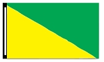 5' x 8' Yellow & Green Diagonal Flag