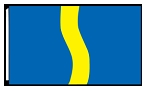 5' x 8'  Blue Yellow Blue Ribbon Flag
