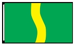 3' x 5'  Green Yellow Green Ribbon Flag