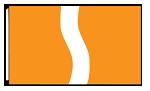 5' x 8'  Orange White Orange Ribbon Flag