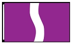 5' x 8'  Purple White Purple Ribbon Flag