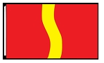 3' x 5'  Red Yellow Red Ribbon Flag