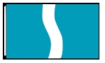 5' x 8'  Teal White Teal Ribbon Flag