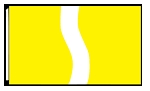 5' x 8'  Yellow  White Yellow Ribbon Flag