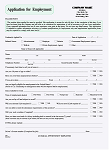 HR-370 Application For Employment (Blank Forms)