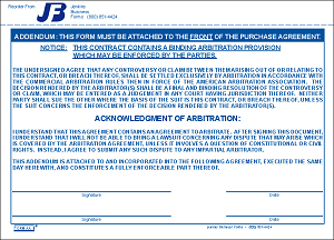Arbitration Addendum