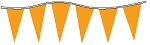 Neon Orange Plasticloth Pennants