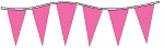 Neon Pink Plasticloth Pennants
