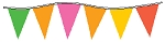 Neon Multi-Colored Plasticloth Pennants