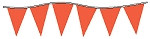 Neon Rocket Red Plasticloth Pennants
