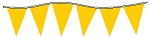 Neon Yellow Plasticloth Pennants