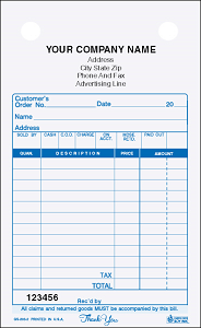 GS-203 4-Part General Sales Register