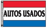 AUTOS USADOS 3' x 5' 2-Sided Message Flag