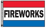 FIREWORKS 3' x 5' 2-Sided Message Flag