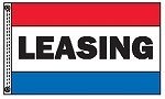 3' x 5' Stock Message Flag - Legend: LEASING