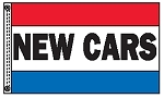 NEW CARS 3' x 5' 2-Sided Message Flag