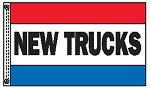 NEW TRUCKS 3' x 5' 2-Sided Message Flag