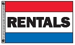 RENTALS 3' x 5' Stock 2-Sided Message Flag