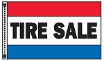 TIRE SALE 3' x 5' 2-Sided Message Flag