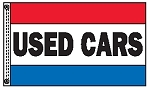 USED CARS 3' x 5' Two Sided Message Flag