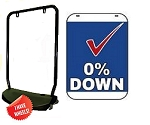 Double Sided Swing Sign Kit - 0% DOWN