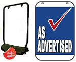 Single Sided Swing Sign Kit - AS ADVERTISED
