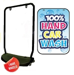 Single Sided Swing Sign Kit - 100% HAND CAR WASH