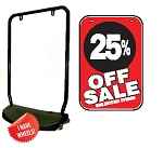 Single Sided Swing Sign Kit - 25% OFF SALE