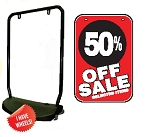 Single Sided Swing Sign Kit - 50% OFF SALE