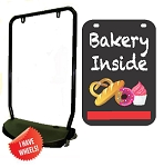 Single Sided Swing Sign Kit - BAKERY INSIDE