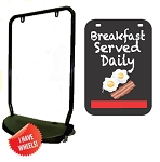 Single Sided Swing Sign Kit - BREAKFAST SERVED DAILY