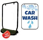 Single Sided Swing Sign Kit - CAR WASH