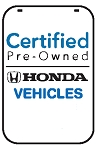 Swing Sign Replacement Single Sided Sign - CERTIFIED PRE-OWNED HONDA VEHICLES