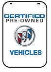 Swing Sign Replacement Single Sided Sign - CERTIFIED PRE-OWNED BUICK VEHICLES