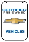 Swing Sign Replacement Single Sided Sign - CERTIFIED PRE-OWNED CHEVROLET VEHICLES