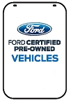 Swing Sign Replacement Single Sided Sign - FORD CERTIFIED PRE-OWNED VEHICLES