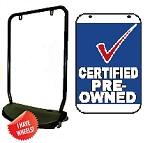 Double Sided Swing Sign Kit - CERTIFIED PRE-OWNED