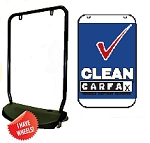Double Sided Swing Sign Kit - CLEAN CARFAX