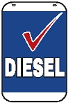 Swing Sign Replacement Single Sided Sign - DIESEL