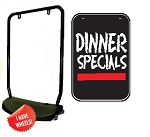Single Sided Swing Sign Kit - DINNER SPECIALS