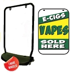 Single Sided Swing Sign Kit - E-CIGS VAPES SOLD HERE