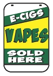 Swing Sign Replacement Double Sided Sign - E-CIGS VAPES SOLD HERE
